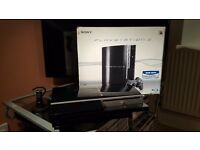 PS3 80 GB with original controller, wireless chat headset, and 13 games.