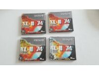 4 X Maxell Blank Mini Disc New Shrink wrapped XL 11 74Min