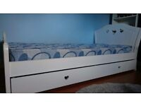 Girls white cut out heart bedroom furniture