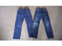 2 pairs of jeans 3-4 years