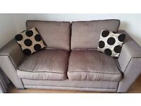 Sofa bed, 3 seater sofa and footstool