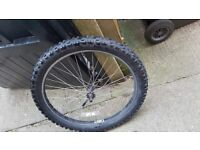 24inch MTB Mountain bike Wheels with kenda kinetic tyres 24x2.60 front and 24x2.30 rear