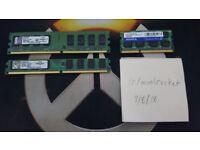 1x1GB DDR2 Ram + 2GB DDR3 1066MHz Laptop Memory