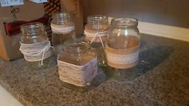 Assorted Decorated Jars - Rustic Style