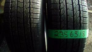 Two like new 235 65 18 M+S tires