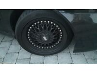 """Bbs style 17""""alloys with new tyres"""