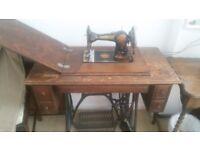 Vintage Treadle sewing machine. Jones