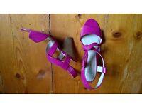 fuchsia pink M & S sandals size 5