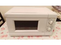 Argos Value Range microwave white used plug needs replacing