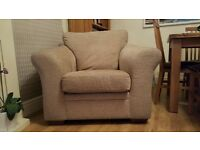 Biscuit coloured large Next armchair for sale