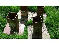 4nr Metal Fence Post Base Supports (Metpost)
