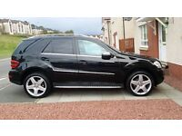 2008 58 PLATE MERCEDES ML 280 CDI SPORT AUTO 4MATIC 7G TRONIC LOW MILEAGE IN GREAT CONDITION