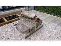 Victorian Real Sandstone Coping Garden Stones.
