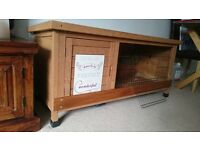 Large Wooden Rabbit Hutch- looks great and excellent quality!
