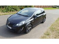 1 OWNER ONLY 22,000 MILES 2012(62)VAUXHALL CORSA 1.4 TURBO BLACK EDITION 3DR FULL SERVICE HISTORY