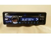 CAR HEAD UNIT SONY XPLOD CD MP3 PLAYER WITH BLUETOOTH AUX RCA 4x 52 AMPLIFIER AMP STEREO RADIO BT