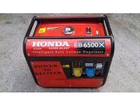 Honda eb65x generator 6.5kva
