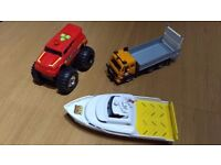 Emergency Vehicle, with Boat and Lorry