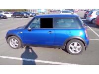 bmw mini one blue 55 plate recent service ready to go corsa seat citroen peugeot suzuki kia