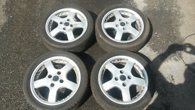 """Wheels and tyres 195/45 15"""" 4x108 fitting (Peugeot, Citroen, Ford and others)"""