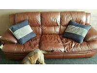 2 leather sofa. 2 and 3 seater