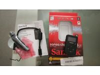 Sandisk Sansa Clip+ MP3 player 8GB (expendable with microSD) with original packaging and accessories