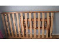 2x Single wooden slatted bed frame