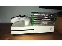Xbox one s 3mths old pad leads etc 6 games