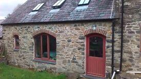 Two storey open plan flat 3 miles Newport pembs, on farm