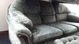 3 seater +2 seater+ matching footstool