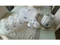 Tommee Tippee steriliser bottle warmer bottles big small joblot