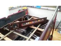 Pool table with slate bed 7 ft x 4 ft