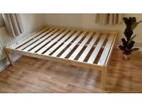 Pine Double Bed Frame - Free