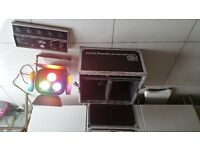 Njd Spectre 1500w Colour wash with foot controller anf Fight case