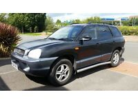 HYUNDAI SANTA FE long mot full service history leather seat V6 cheap on fuel tax 39k £1175ono