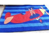 Boys Aeroplane Bedroom Rug