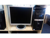 """HP Compaq PC with fast SSD drive, 19"""" Samsung screen, ideal for school homework"""