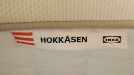 POCKET SPRUNG MATRESS. STANDARD DOUBLE IKEA HOKKÅSEN FIRM-WHITE.