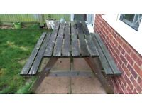 Wooden Picnic Bench Free For Collection