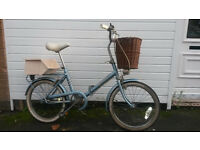 FOLDING SHOPPER STYLE BIKE WITH BASKET AND LOCK