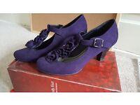 Purple bridesmaid shoes