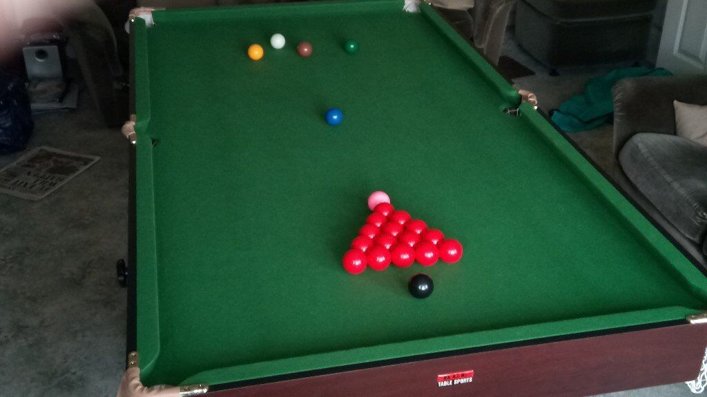 Snooker pool table 6 39 x 3 39 including ancillaries in for Pool table 6 x 3