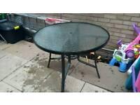 Garden table, £10 or swap for a garden bench
