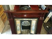 Very nice cast iron tiled fireplace in excellent condition £70
