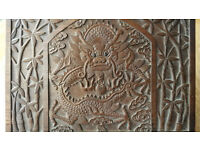 Beautiful Victorian Heavily Carved Dragon Reading Slope