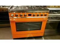 90cm smeg dual fuel range cooker used twice !!!