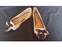 Halima Quilted ballerina Shoe Size 5