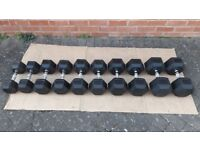 20KG, 22.5KG, 25KG, 27.5KG HEX DUMBBELL WEIGHTS SET