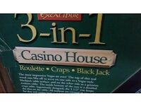 Casino games wood table top cabinet 3in1