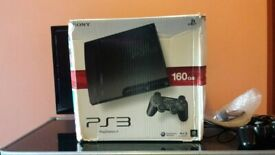 Sony PS3 Slim 160 GB CECH-3003A Charcoal Black Boxed + 1x Sixaxis Controller + Leads
